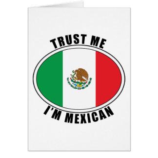 Confíe en que yo es mexicano tarjeta de felicitación