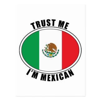 Confíe en que yo es mexicano tarjeta postal