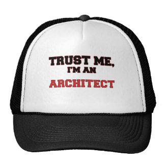 Confíe en que yo es mi arquitecto gorros bordados