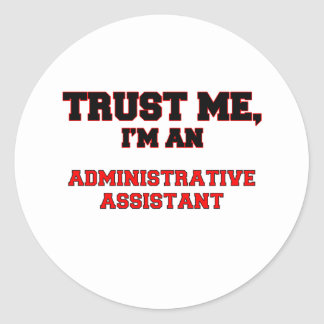 Confíe en que yo es mi ayudante administrativo etiquetas redondas