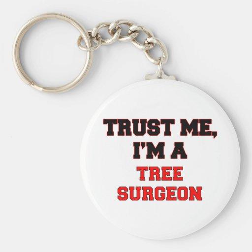 Confíe en que yo es mi cirujano de árbol llavero redondo tipo pin