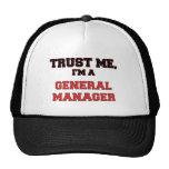 Confíe en que yo es mi director general gorras de camionero