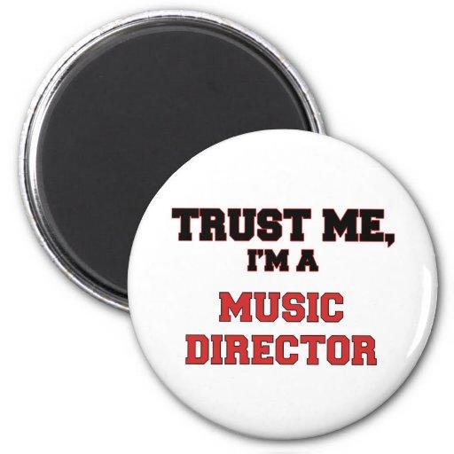Confíe en que yo es mi director musical iman para frigorífico