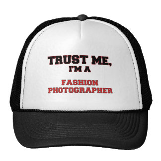 Confíe en que yo es mi fotógrafo de la moda gorros