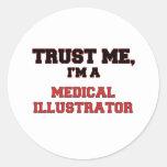 Confíe en que yo es mi ilustrador médico pegatina