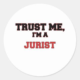 Confíe en que yo es mi jurista pegatinas redondas