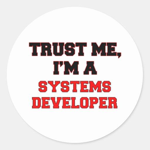Confíe en que yo es mi promotor de los sistemas pegatina redonda