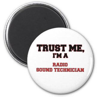 Confíe en que yo es mi técnico sano de radio imán de nevera