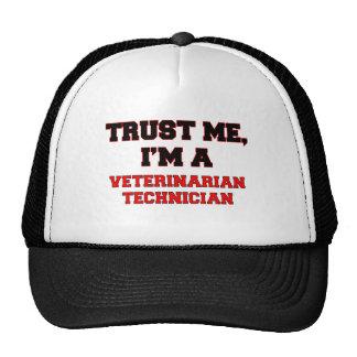 Confíe en que yo es mi técnico veterinario gorras