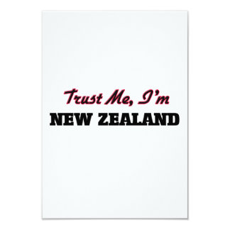 Confíe en que yo es Nueva Zelanda Invitación 8,9 X 12,7 Cm