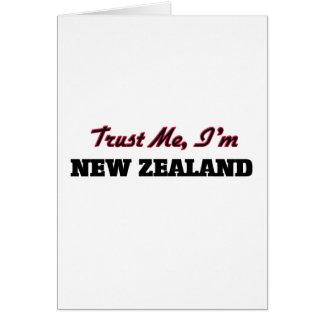 Confíe en que yo es Nueva Zelanda Tarjeta De Felicitación