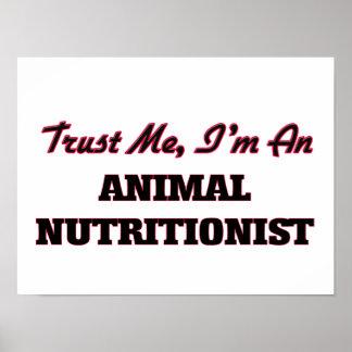 Confíe en que yo es nutricionista animal póster