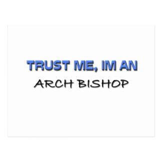 Confíe en que yo es obispo del arco tarjeta postal