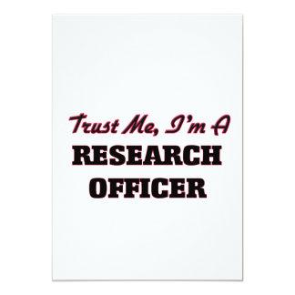 """Confíe en que yo es oficial de la investigación invitación 5"""" x 7"""""""