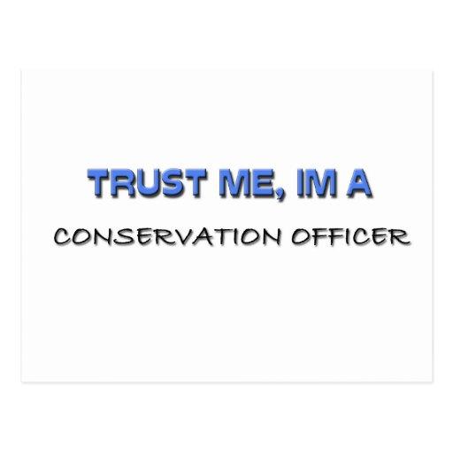 Confíe en que yo es oficial de la protección postales