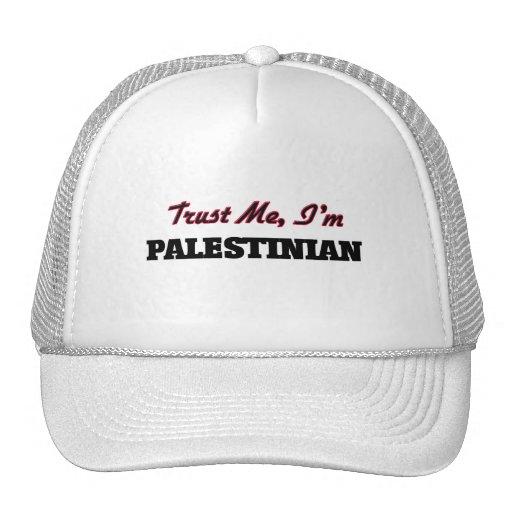 Confíe en que yo es palestino gorros bordados