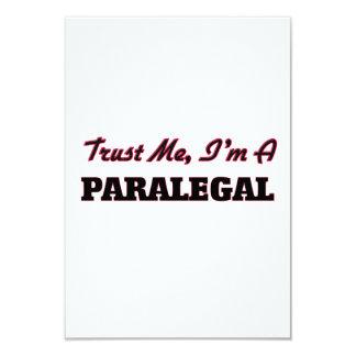"""Confíe en que yo es Paralegal Invitación 3.5"""" X 5"""""""