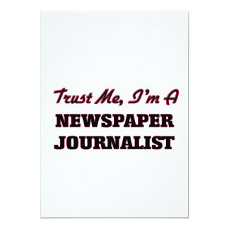 """Confíe en que yo es periodista del periódico invitación 5"""" x 7"""""""
