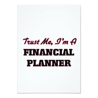 Confíe en que yo es planificador financiero invitación 12,7 x 17,8 cm