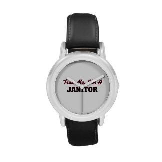 Confíe en que yo es portero reloj de mano