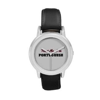 Confíe en que yo es portugués relojes de pulsera
