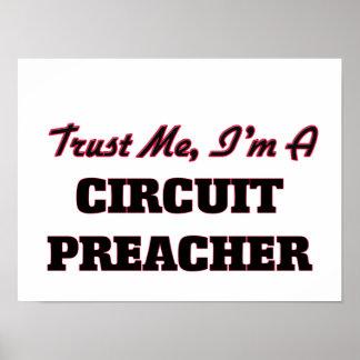 Confíe en que yo es predicador del circuito poster