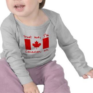 Confíe en que yo es productos canadienses camisetas