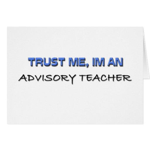 Confíe en que yo es profesor consultivo felicitación