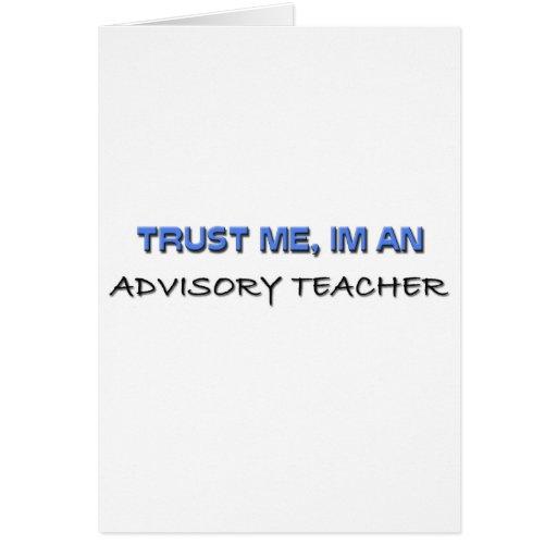 Confíe en que yo es profesor consultivo felicitacion