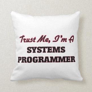 Confíe en que yo es programador cojin