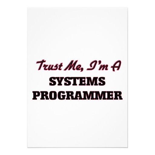 Confíe en que yo es programador comunicados personalizados