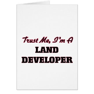 Confíe en que yo es promotor de la tierra tarjeta de felicitación