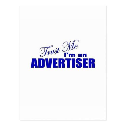Confíe en que yo es publicista postales