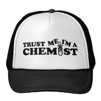 Confíe en que yo es químico gorros