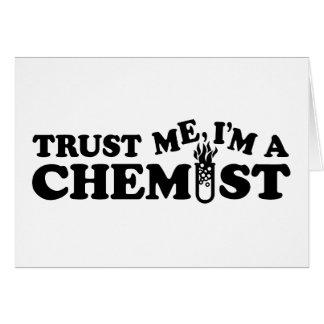 Confíe en que yo es químico tarjetón