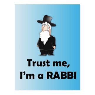 Confíe en que yo es rabino - humor judío divertido tarjetas postales