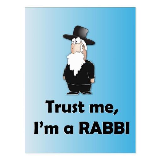 Confíe en que yo es rabino - humor judío divertido postal