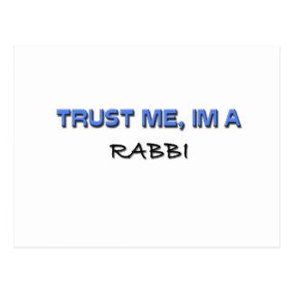 Confíe en que yo es rabino tarjetas postales