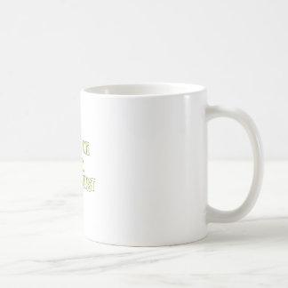 Confíe en que yo es recepcionista tazas de café