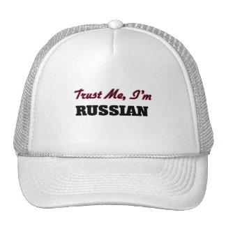 Confíe en que yo es ruso gorras de camionero
