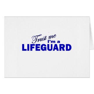 Confíe en que yo es salvavidas tarjeta de felicitación