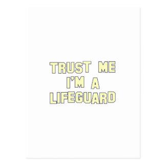 Confíe en que yo es salvavidas tarjeta postal