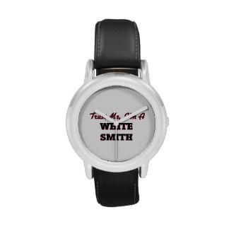 Confíe en que yo es Smith blanco Reloj