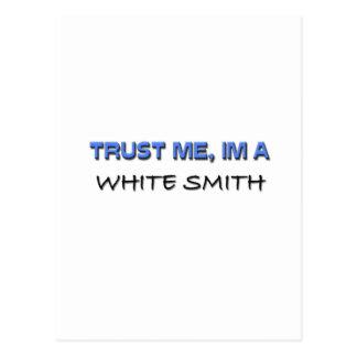 Confíe en que yo es Smith blanco Postal
