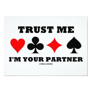 Confíe en que yo es su socio (cuatro juegos de la invitación 12,7 x 17,8 cm