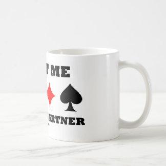 Confíe en que yo es su socio (el decir del puente) tazas de café