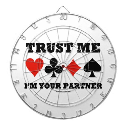 Confíe en que yo es su socio (juegos de la tarjeta