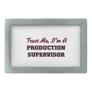 Confíe en que yo es supervisor de la producción hebilla cinturon rectangular