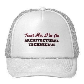 Confíe en que yo es técnico arquitectónico gorros bordados