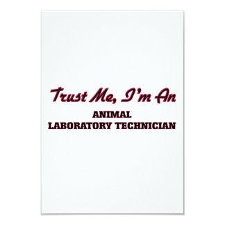 Confíe en que yo es técnico de laboratorio animal invitación 8,9 x 12,7 cm